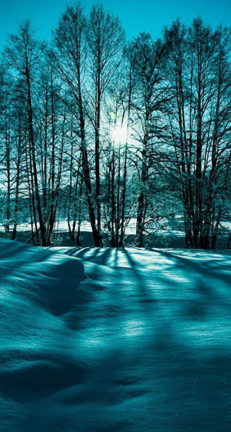 winter iphone wallpaper landscape snow trees winter nature the iphone wallpapers 3371