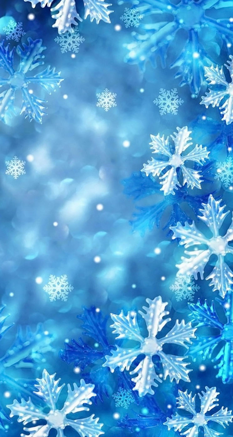 Blue Snowflakes The Iphone Wallpapers