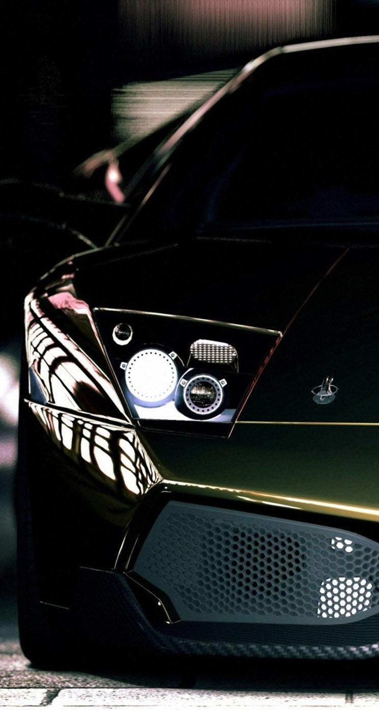 Dark Green Lamborghini Murcielago The Iphone Wallpapers