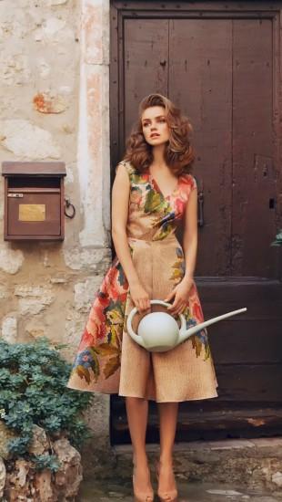 Retro style farmer girl