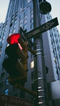 NYC traffic light