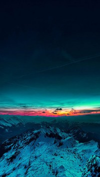Beautiful Sunset Mountain