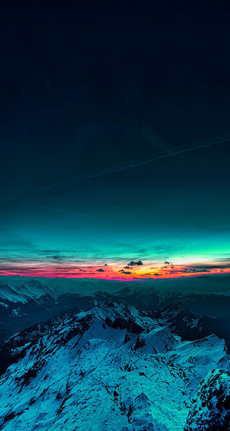 Beautiful Sunset Mountain The Iphone Wallpapers