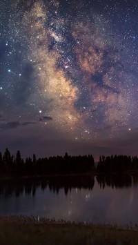 Smoky-Yellowstone-Night